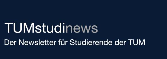 Logo: TUMstudinews - Der Newsletter für Studierende der TUM