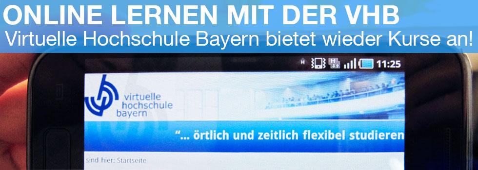 Online lernen mit der vhb - Virtuelle Hochschule Bayern bietet im Sommersemester 2013 wieder viele Kurse an