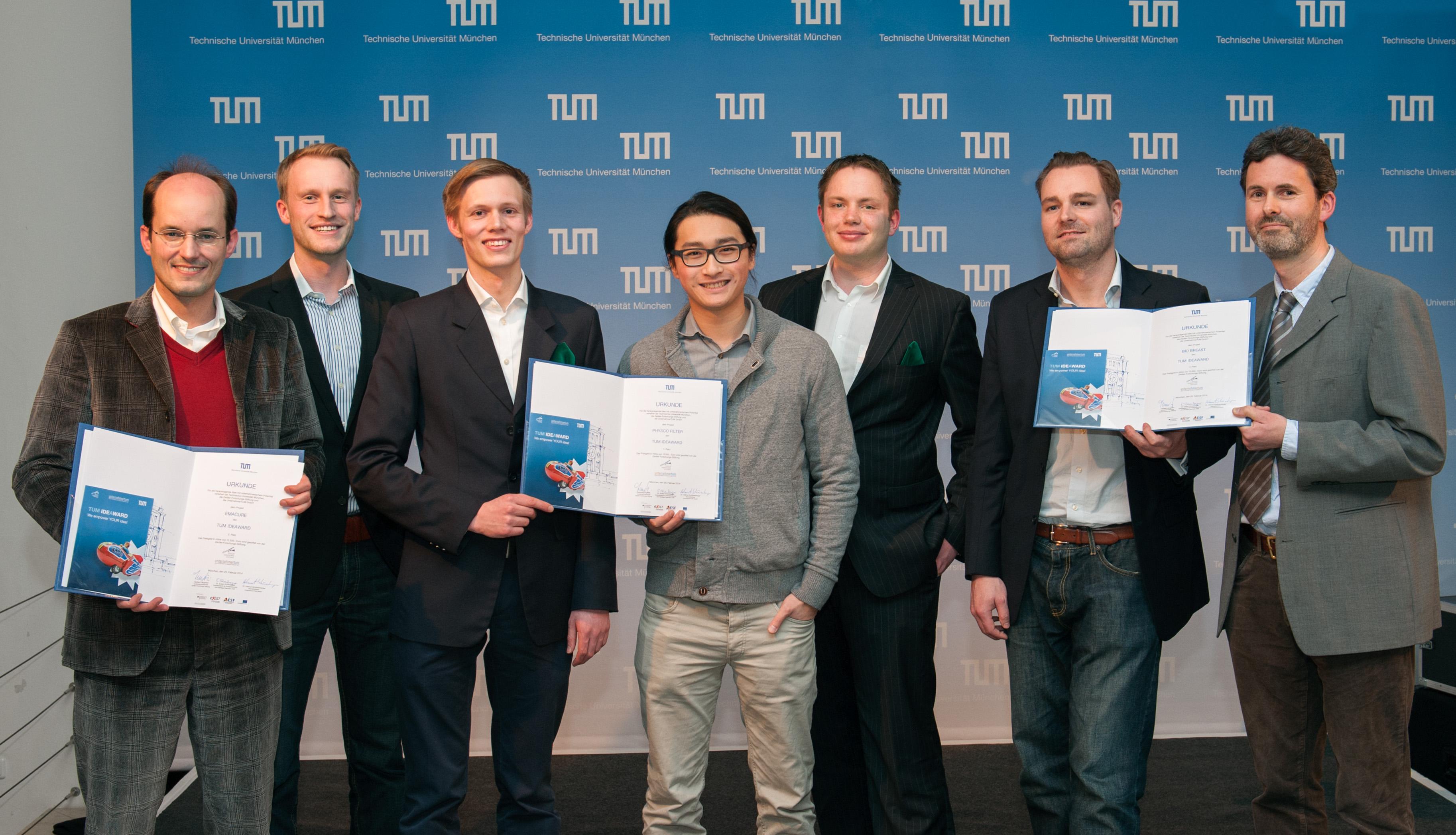 Ideen mit Marktpotential: Die Gewinner des TUM IdeAward 2013