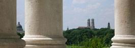 View of Frauenkirche from the Englischer Garten.