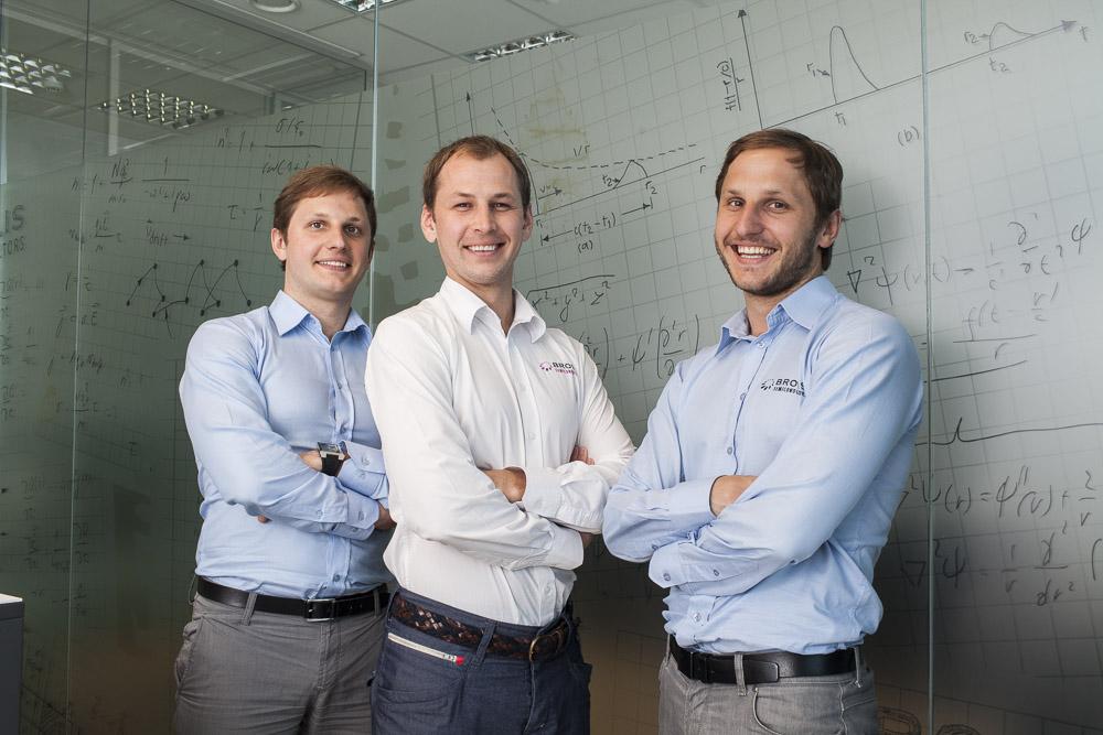 Das Gründerteam von Brolis Semiconductors