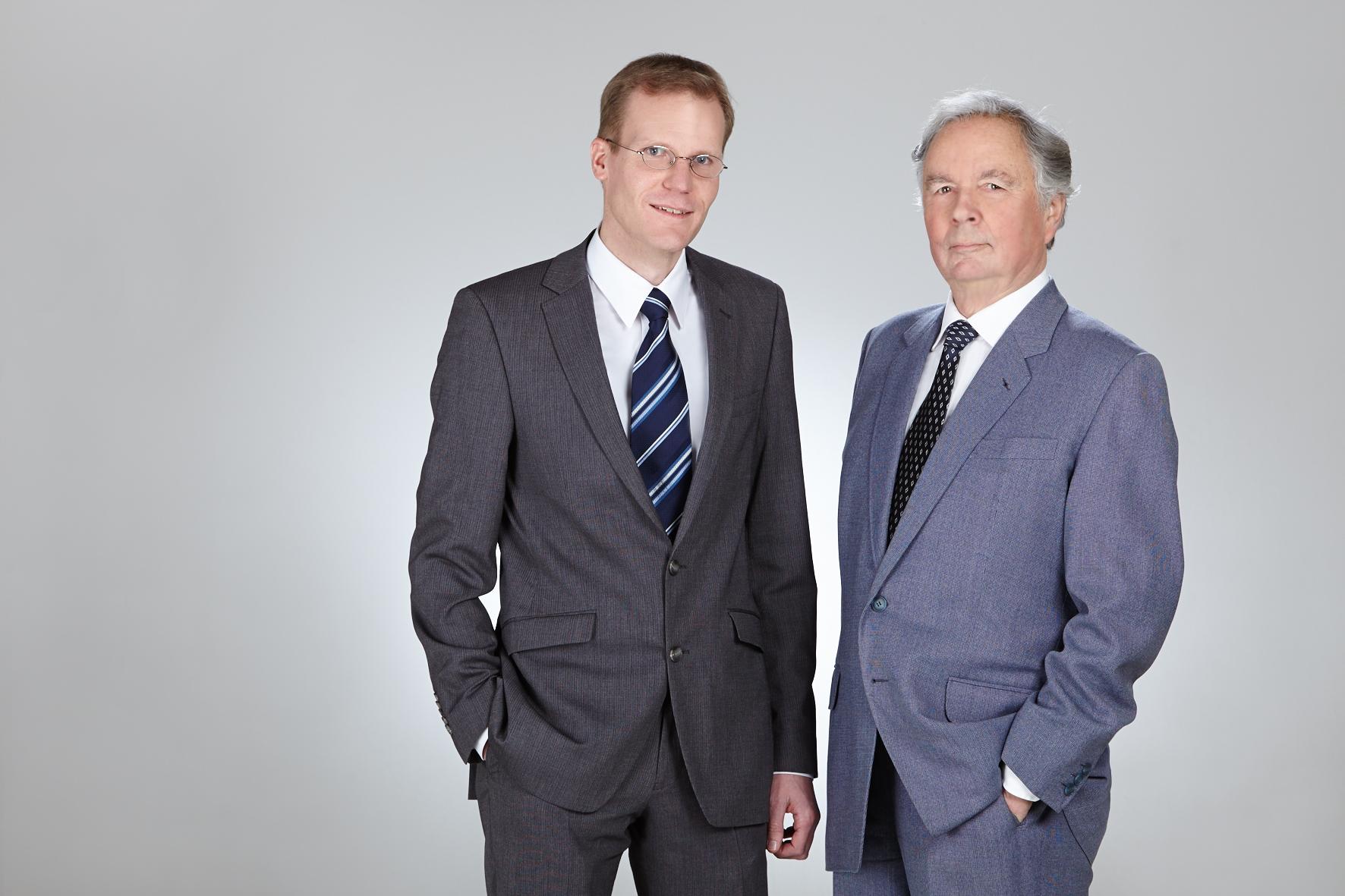 Dr.-Ing. Albert J. Wimmer und Dipl.-Ing. Rudolf Stegherr von Isar Getriebetechnik