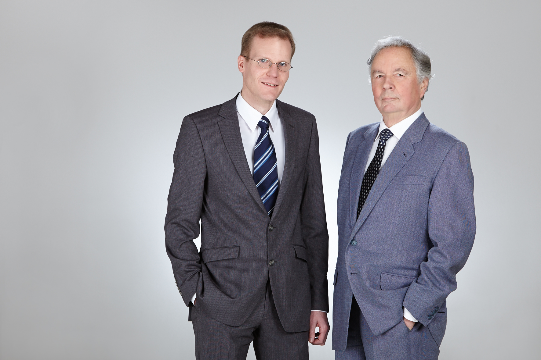 Dr.-Ing. Albert J. Wimmer and Dipl.-Ing. Rudolf Stegherr of Isar Getriebetechnik