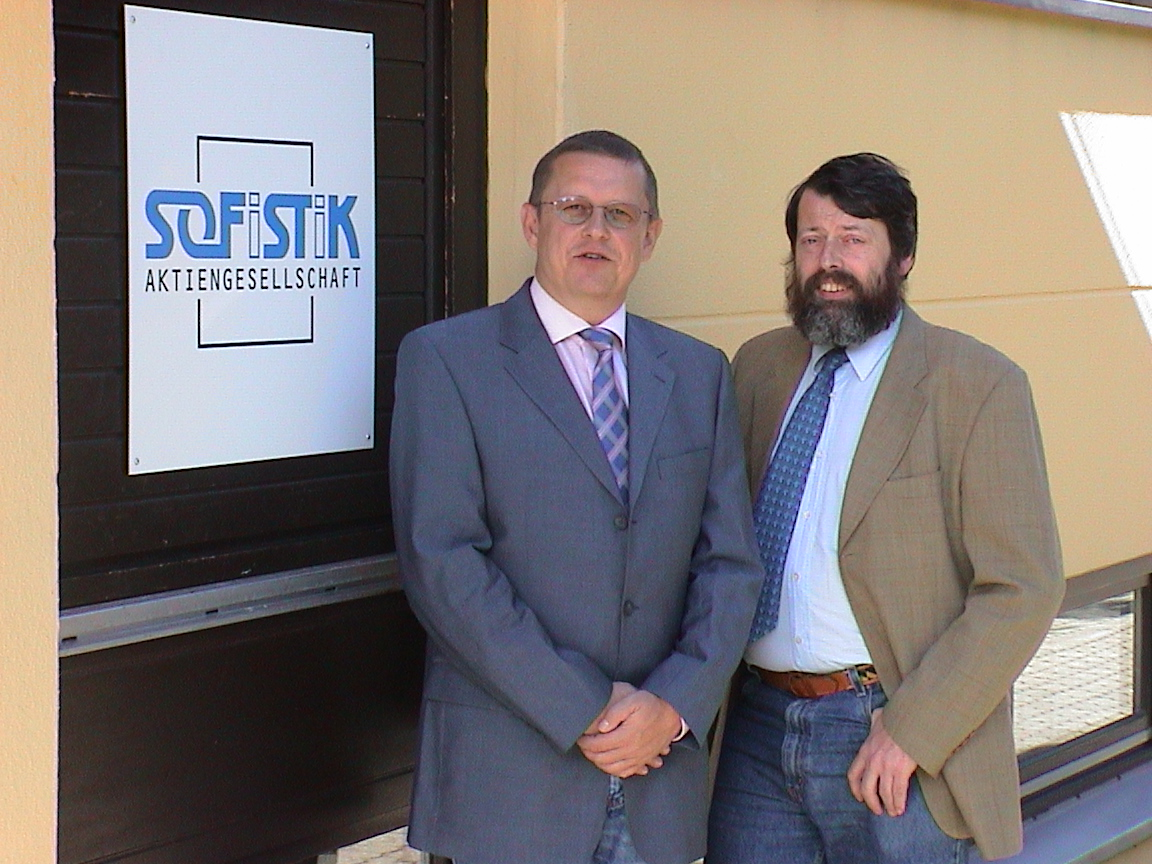 Dipl.-Ing. Thomas Fink and Prof. Dr. Casimir Katz of SOFiSTiK AG