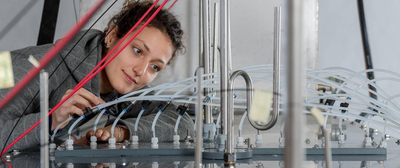 Scientist in a water research lab.