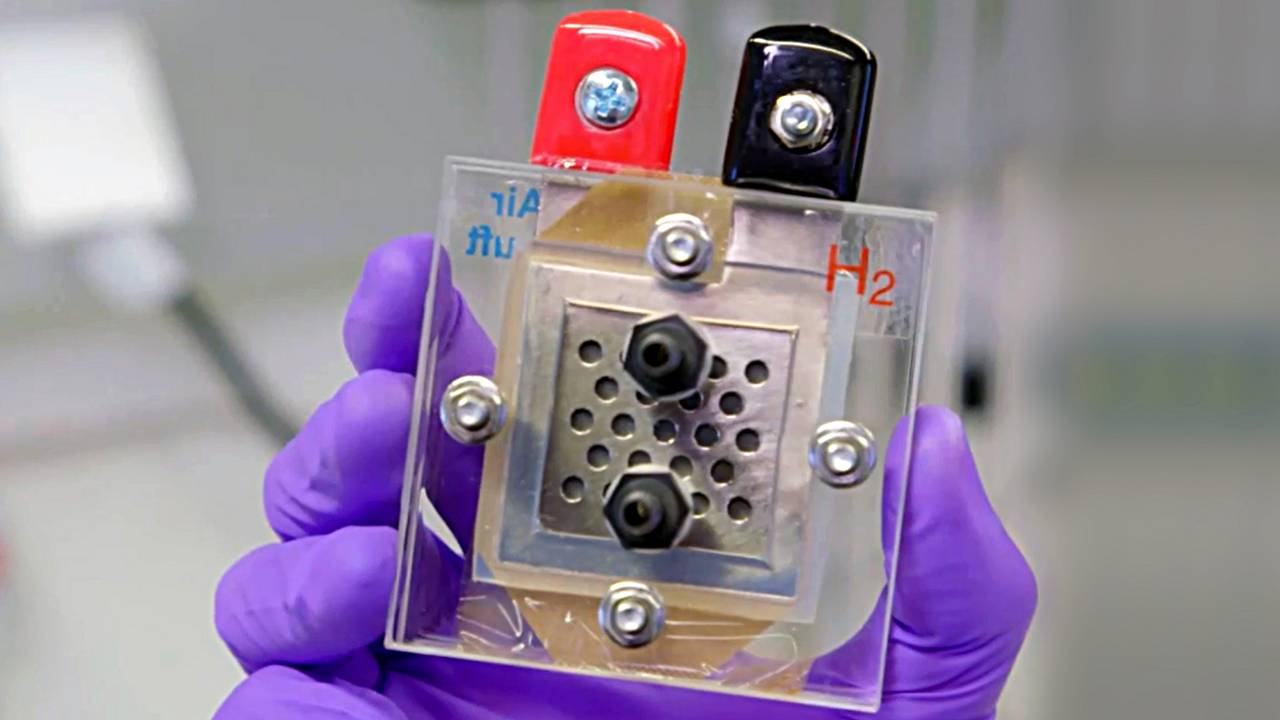 Research-fuel cell, manufactured at the Chair of Technical Electrochemistry