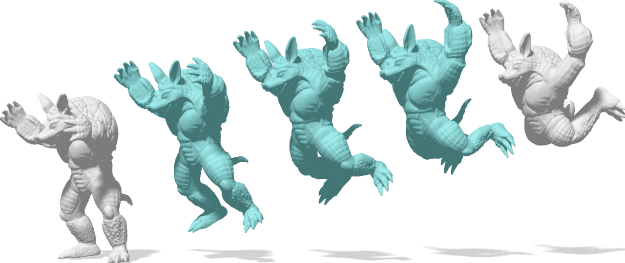 Prof. Daniel Cremers will use digital deformable shape like this caertoon armadillo for his ERC-fundend project.