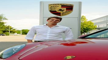 Stipendiat Rupert Wildhofer bei Porsche
