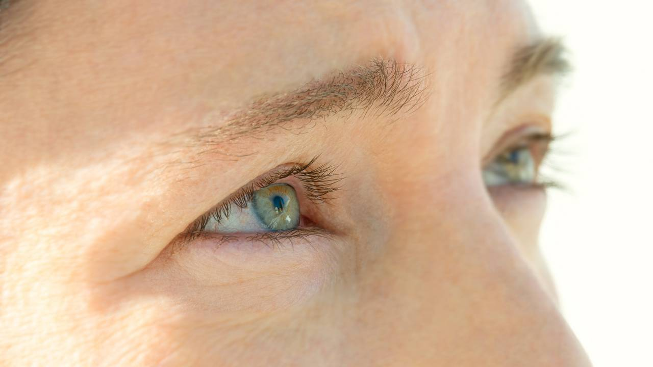 In cataracts, the lens of the eye, which is actually clear, becomes cloudy.