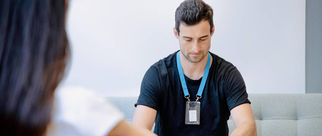 "The centrepiece of Kinexon's ""SafeZone"" is a small white box equipped with a sensor that can be worn on the body in the form of so-called wearables - as a bracelet, clip or lanyard."