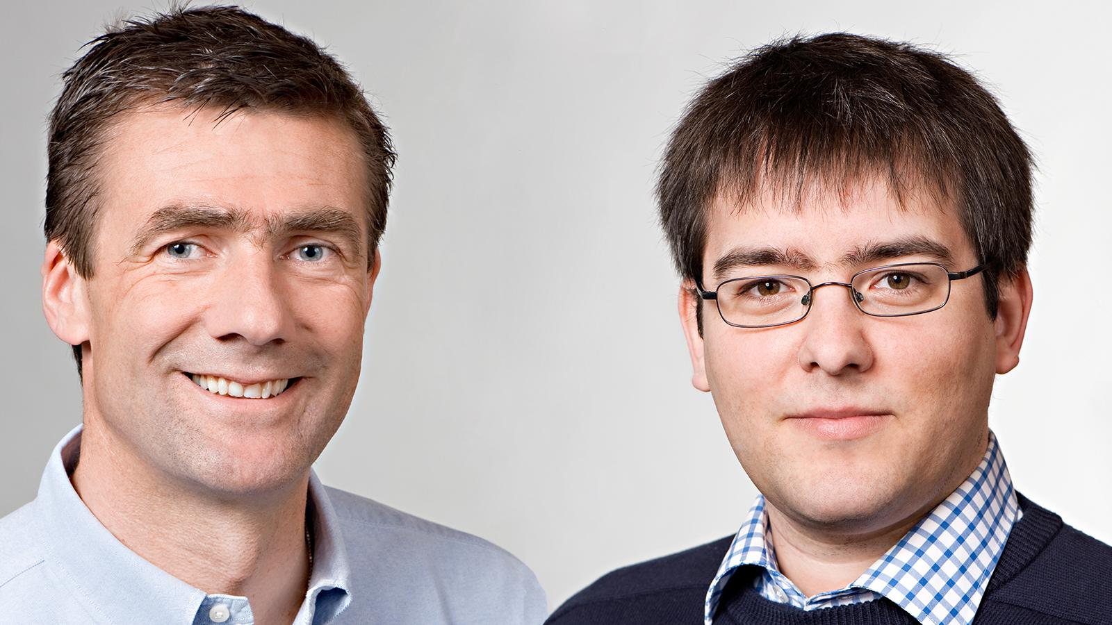 Chemist Prof. Thorsten Bach (left) and informatics scientist Prof. Thomas Neumann