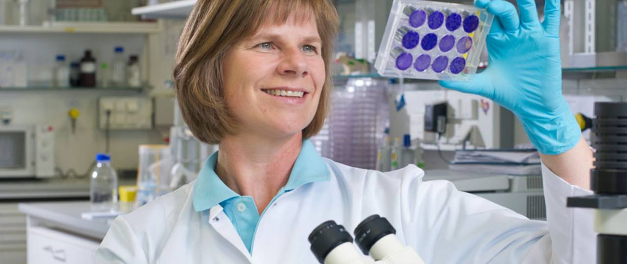 Prof. Ulrike Protzer (photo) and Prof. Mathias Heikenwälder destroyed the viral DNA in the liver cells (Photo: TUM)