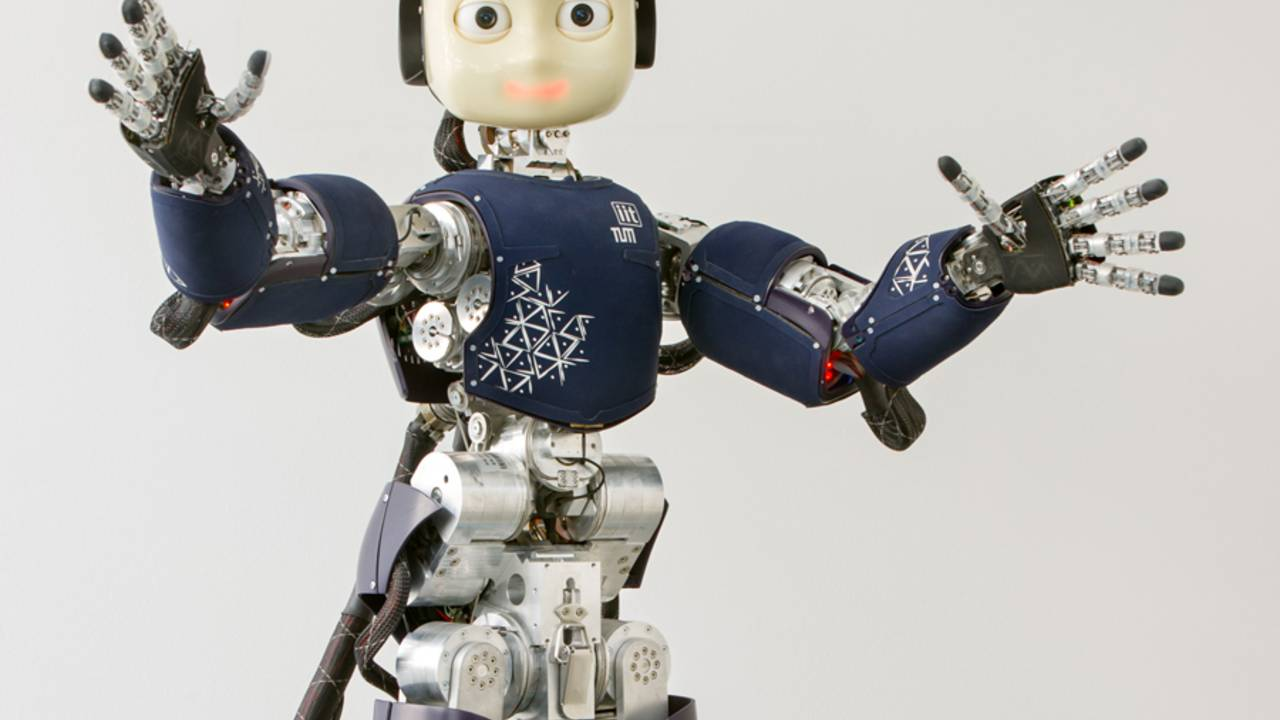 Der androide Roboter iCub
