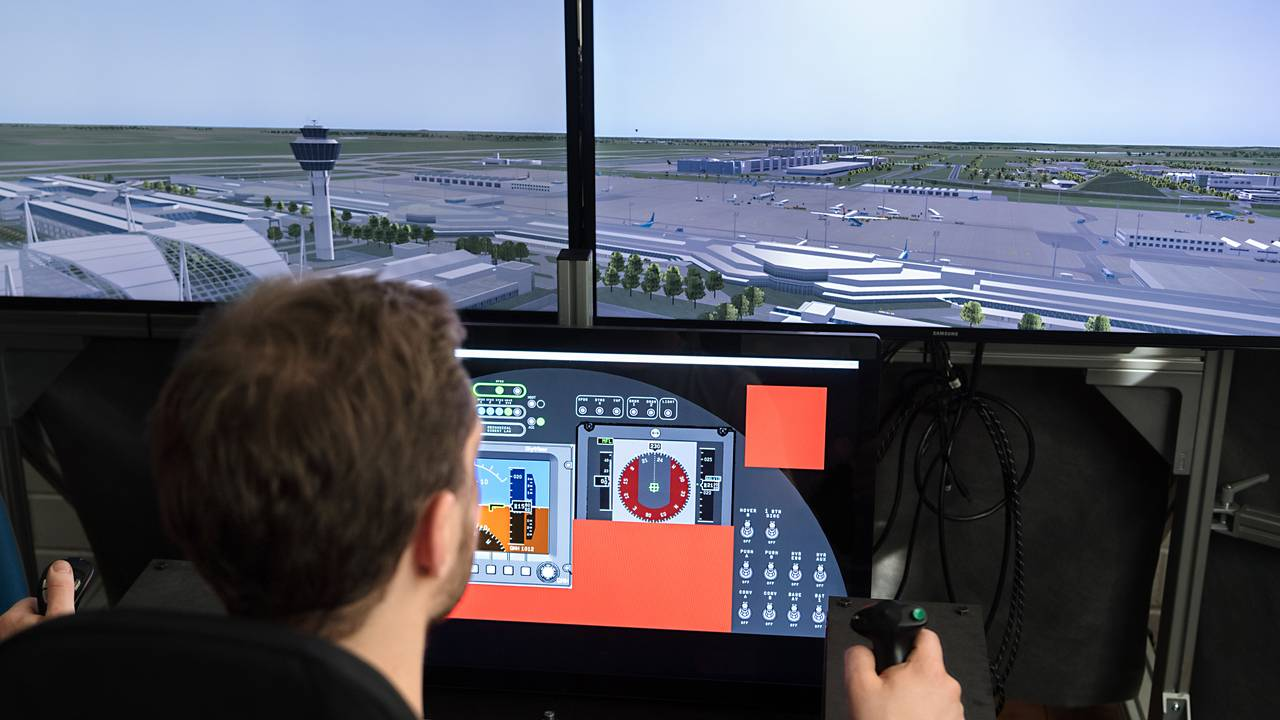 Flight simulator for aerial taxis