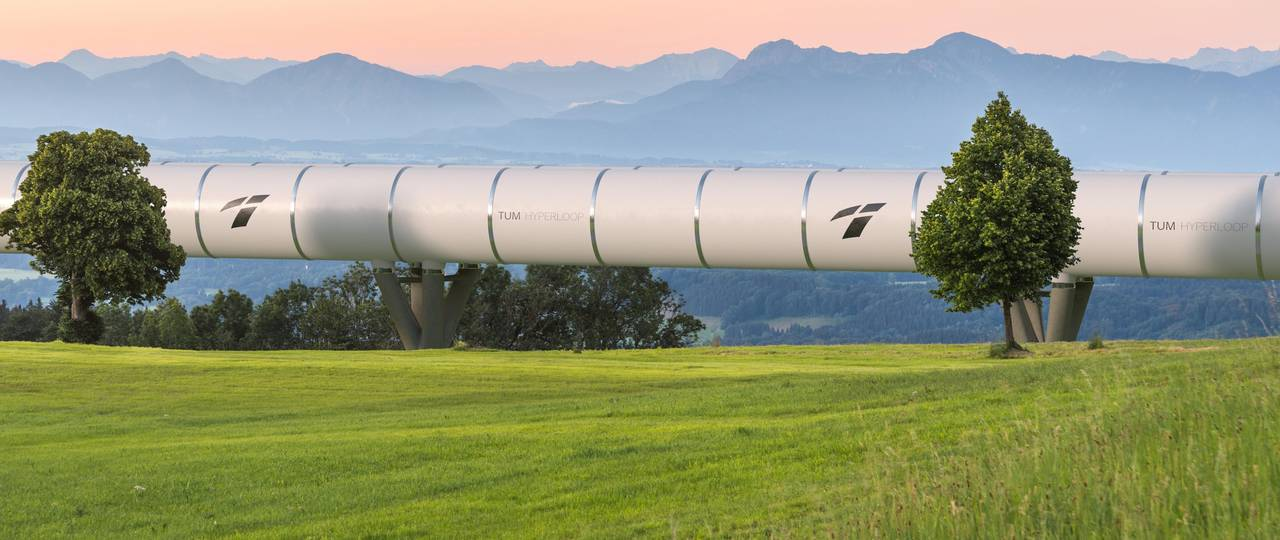 A Hyperloop tube in Bavaria: a team from the Technical University of Munich is researching this vision.
