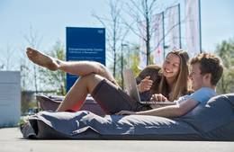 Students on beanbag