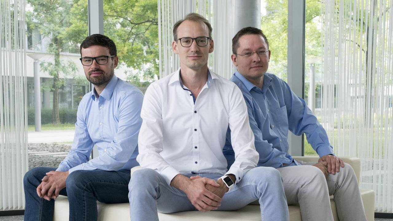 The Blickfeld founders Mathias Müller, Florian Petit and Rolf Wojtech (f.l.).