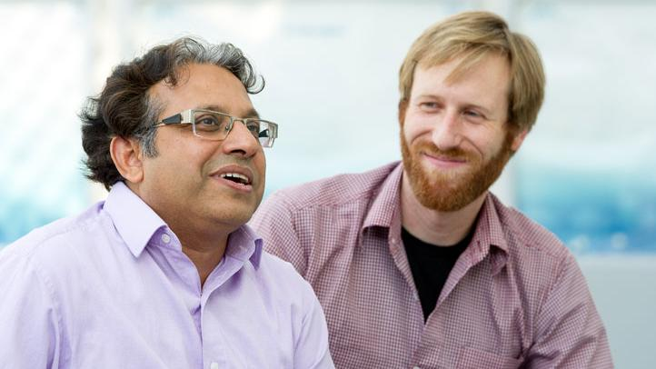 PhD student Paul Bockelmann and Prof. Amaresh Chakrabarti