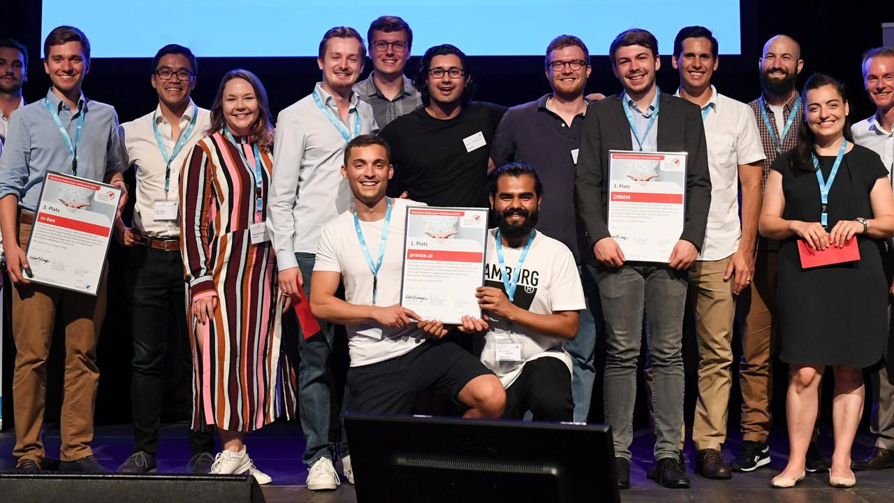 The winners of the Munich Business Plan Competition.