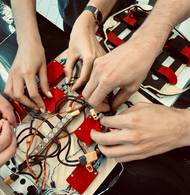 Hands on electronics board