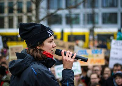 Ramona Wüst, spokeswoman of Fridays for Future in Munich