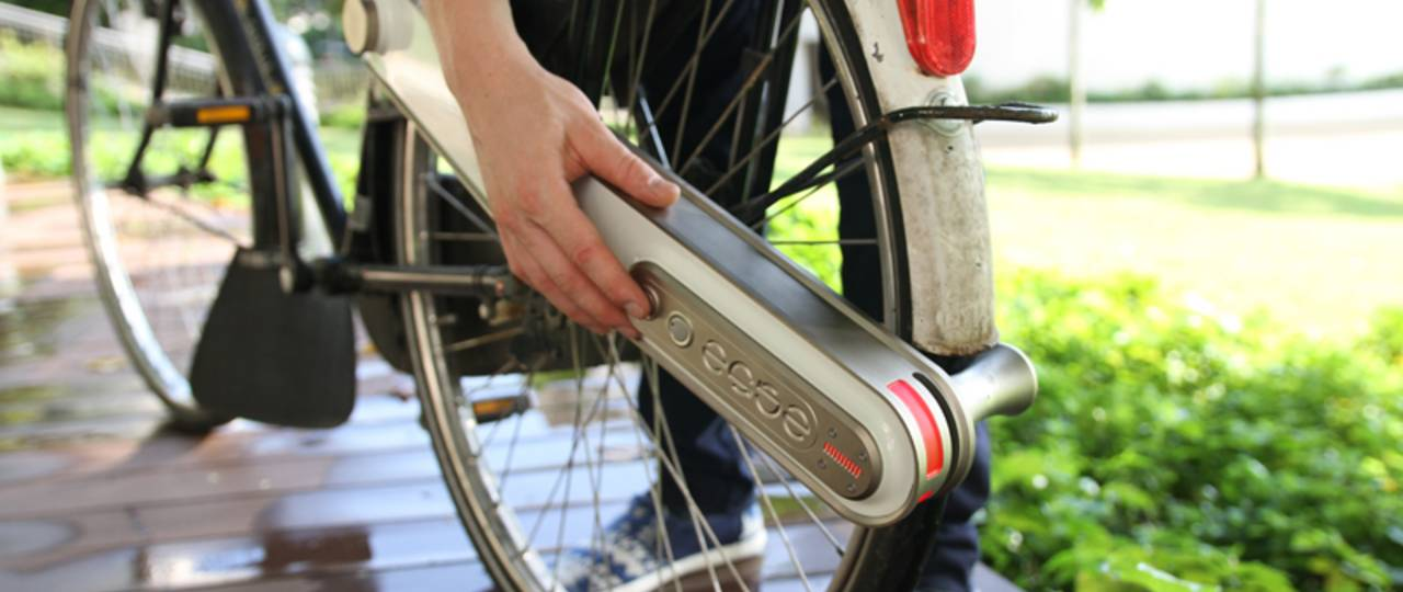 """""""ease"""" can be attached to almost any bicycle."""
