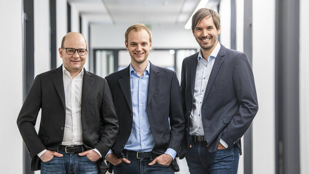 The founders of Celonis, Bastian Nominacher, Alexander Rinke and Martin Klenk