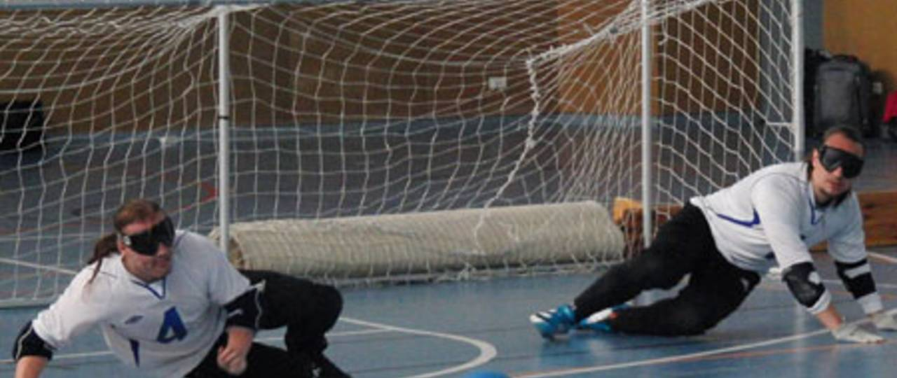 Characteristic defense situation in goalball