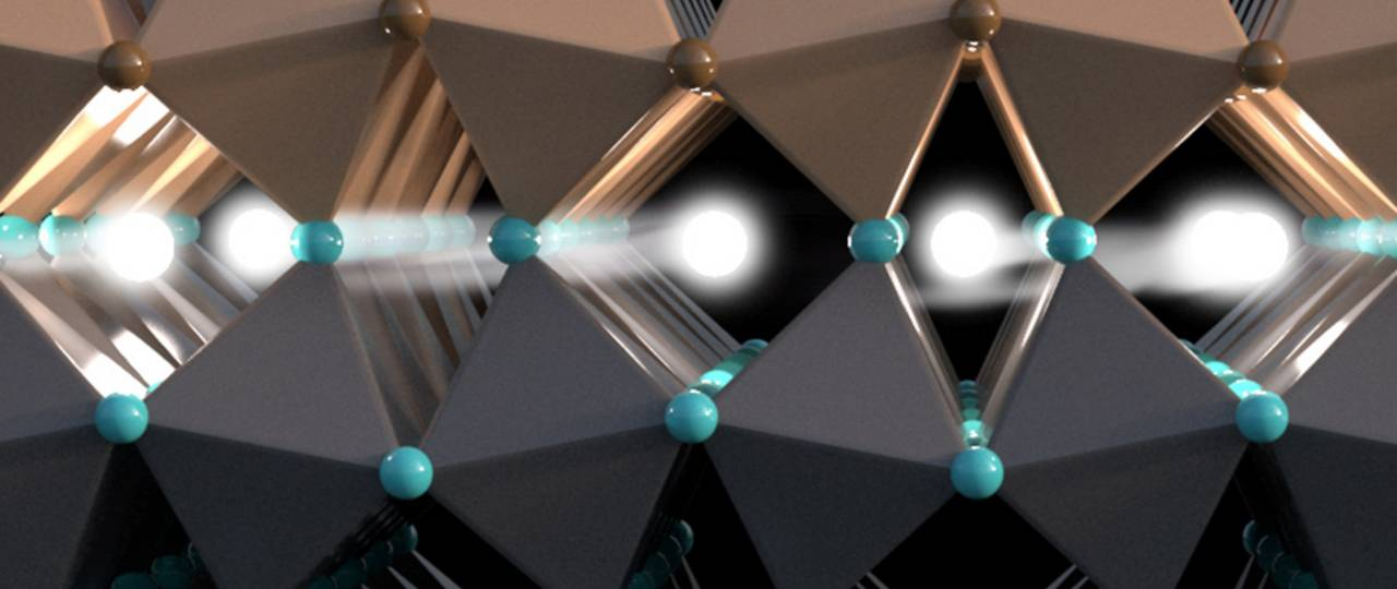 The spin of electrons transports information in this conducting layer between two isolators – Image: Christoph Hohmann / NIM