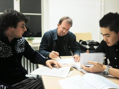 "Beratungssituation im ""English Writing Center"""
