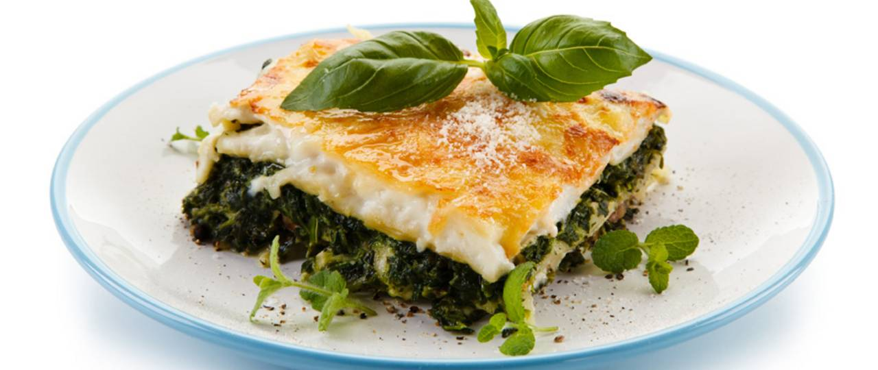 For the tests of the study, subjects consumed a high-carbohydrate meal such as such a vegetable lasagna. (Picture: iStockphoto/ gbh007)