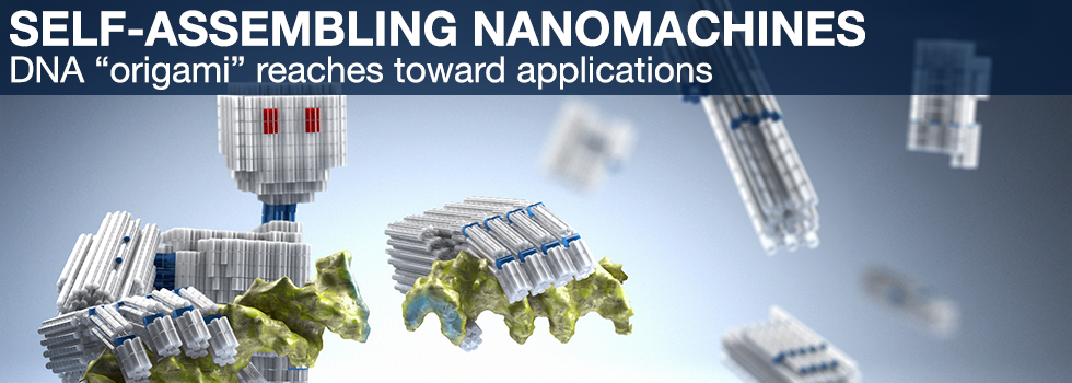"Self-assembling nanomachines - DNA ""origami"" reaches toward applications (picture: C. Hohmann / NIM)"