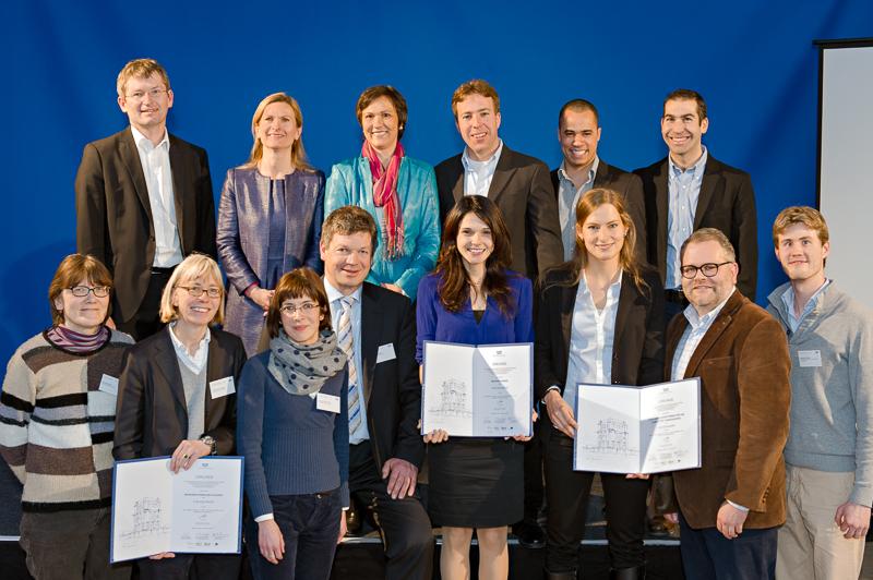 Die Gewinnerteams des TUM IdeAward 2014 bei der Preisverleihung