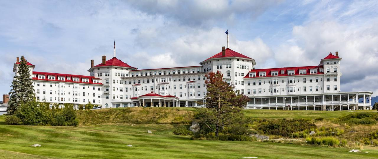 The Mount Washington Hotel, where the Bretton Woods conference took place.