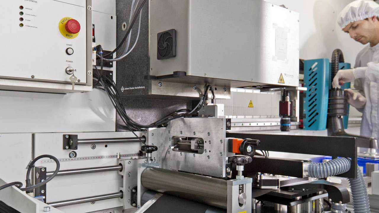 Research centre for the production of high-energy storage cells at the Institute for Machine Tools and Industrial Management .