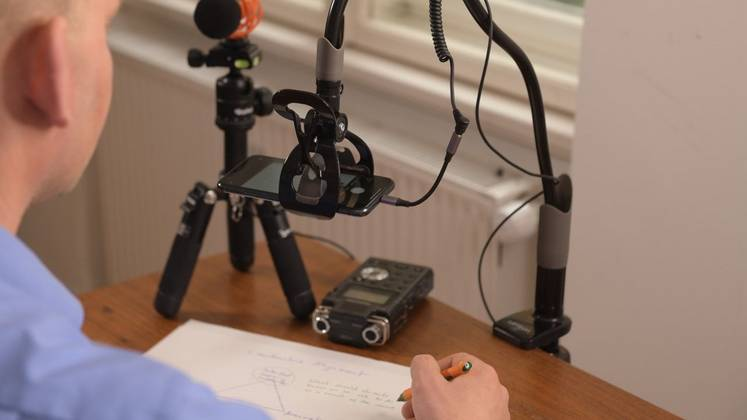 Production of an instructional video