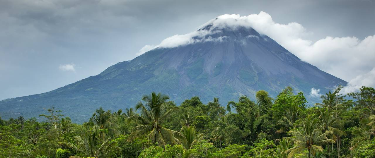 The volcano Merapi on the island Java in Indonesia.