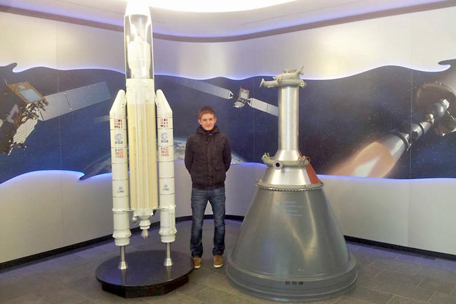 Daniel Rahn bei Airbus (Foto: privat)