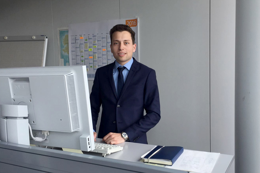 Praktikant Felix Hüttner bei der Allianz Deutschland AG