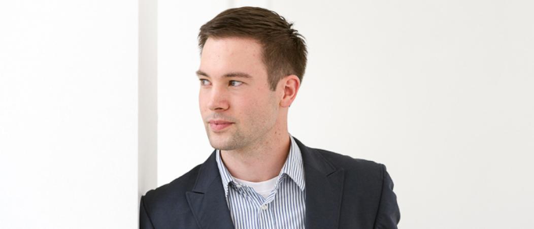 Stipendiat Sebastian Brenninger