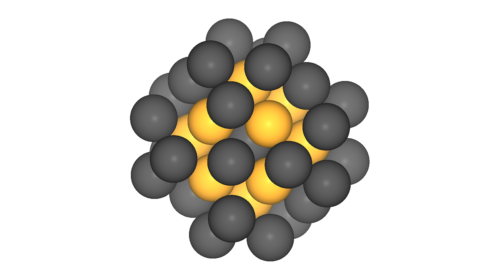 Platin-nanoparticles with 40 atoms.