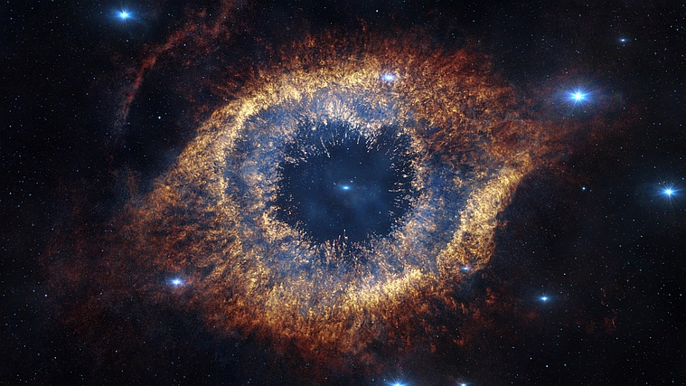 Infrared image of the Helix nebula