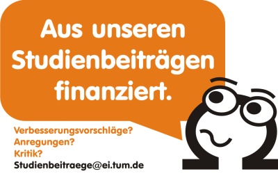 """Logo """"Aus unseren Studienbeiträgen finanziert"""""""