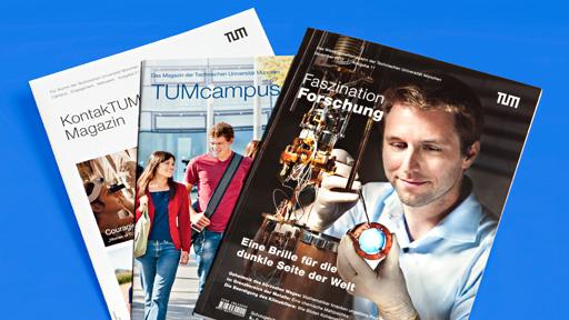 Die ganze Welt der TUM: In unseren Zeitschriften und weiteren Publikationen.