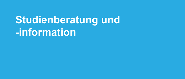 """Banner """"Studienberatung und -information"""" mit Link zum Team der Studienberatung."""
