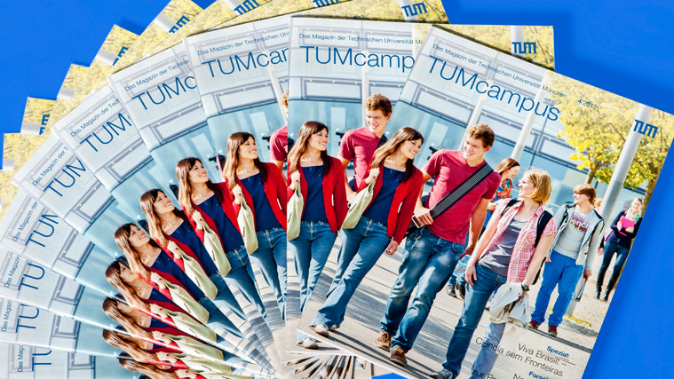 Cover of the university magazine of the Technical University of Munich, called TUMcampus, issue 4/2012