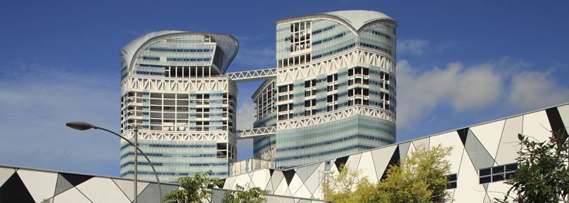 TUM Asia: The futuristic campus of the TUM in Singapore.