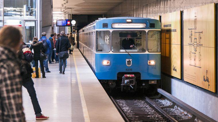 Metro station in Garching