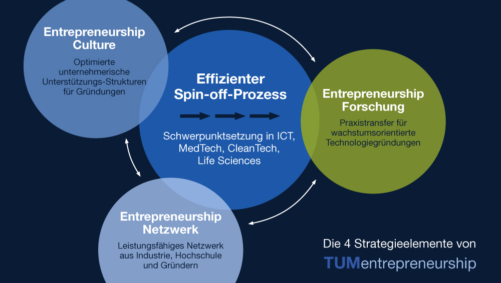 Chart of the strategic elements of TUMentrepreneurship